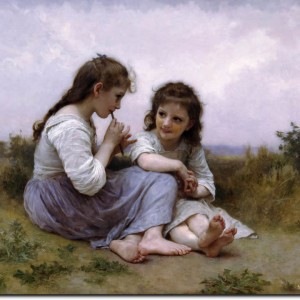 william-adolphe-bouguereau-a-childhood-idyll-55x70