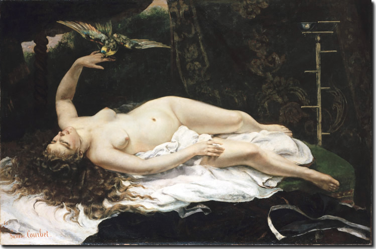 Woman with a Parrot 60X90 εκ.(Gustave Courbet)
