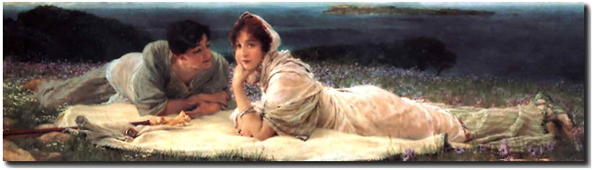 A World of their own 30X110 by Alma Tadema