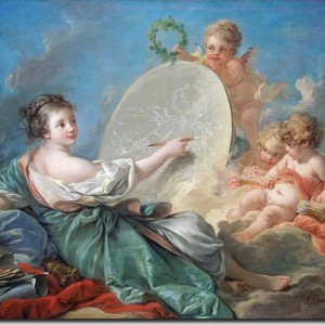 Allegory-of_painting_Francois_Boucher_60X75