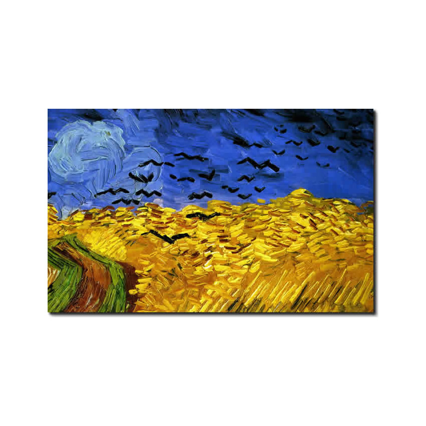 Detail from  Wheatfield with Crows by Van Gogh