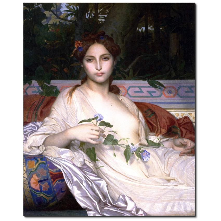 Oriental painting No 32 _Albayde by Alexandre Cabanel.