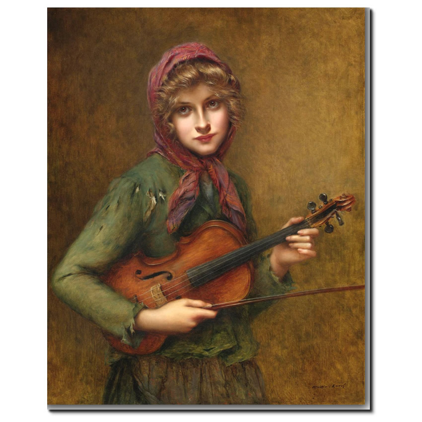 The Young Violin player by Francois Martin-Kavel