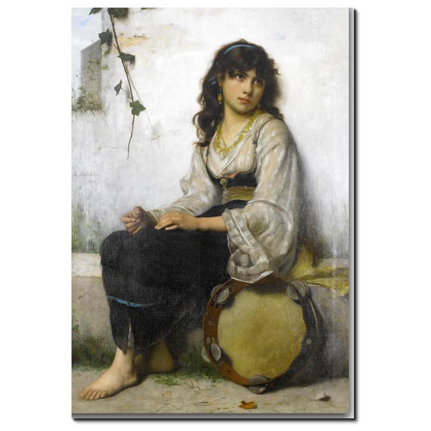 The Little tambourine girl by Delobbe