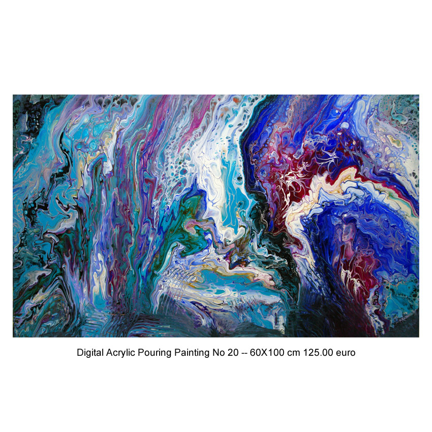 Digital Acrylic Pouring Painting No 20–60X100 cm.