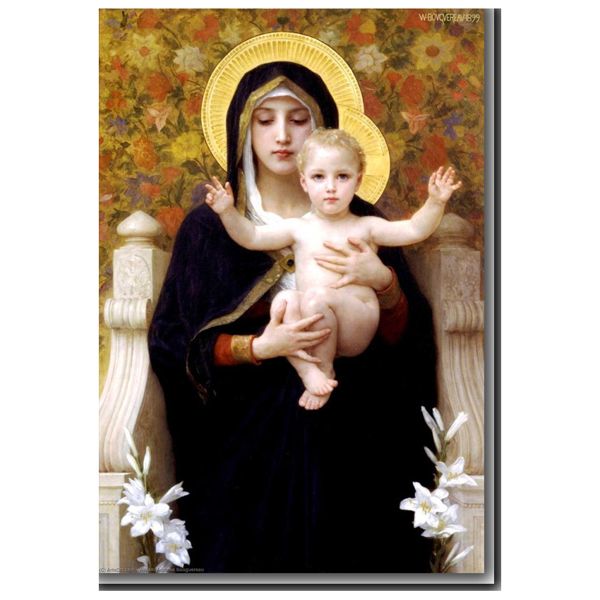 The Virgin of the Lillies by Bouguereau