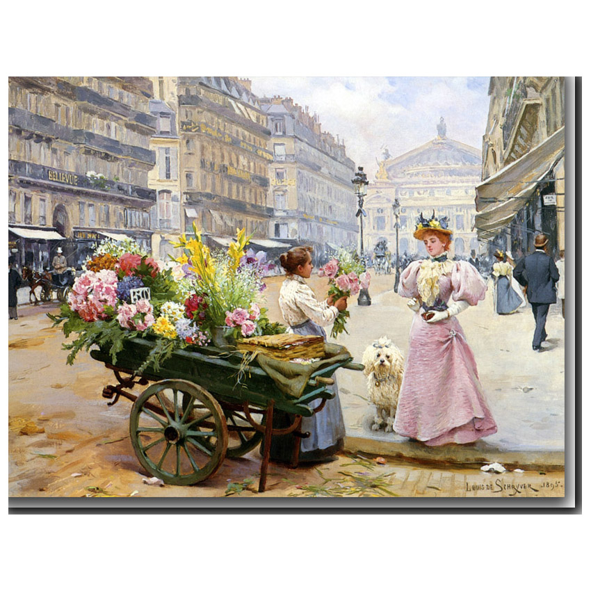 Mary at the flower market