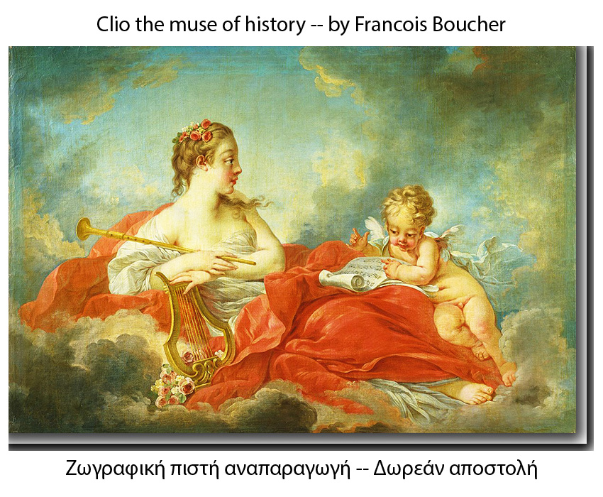Clio the Muse of history by Francois Boucher