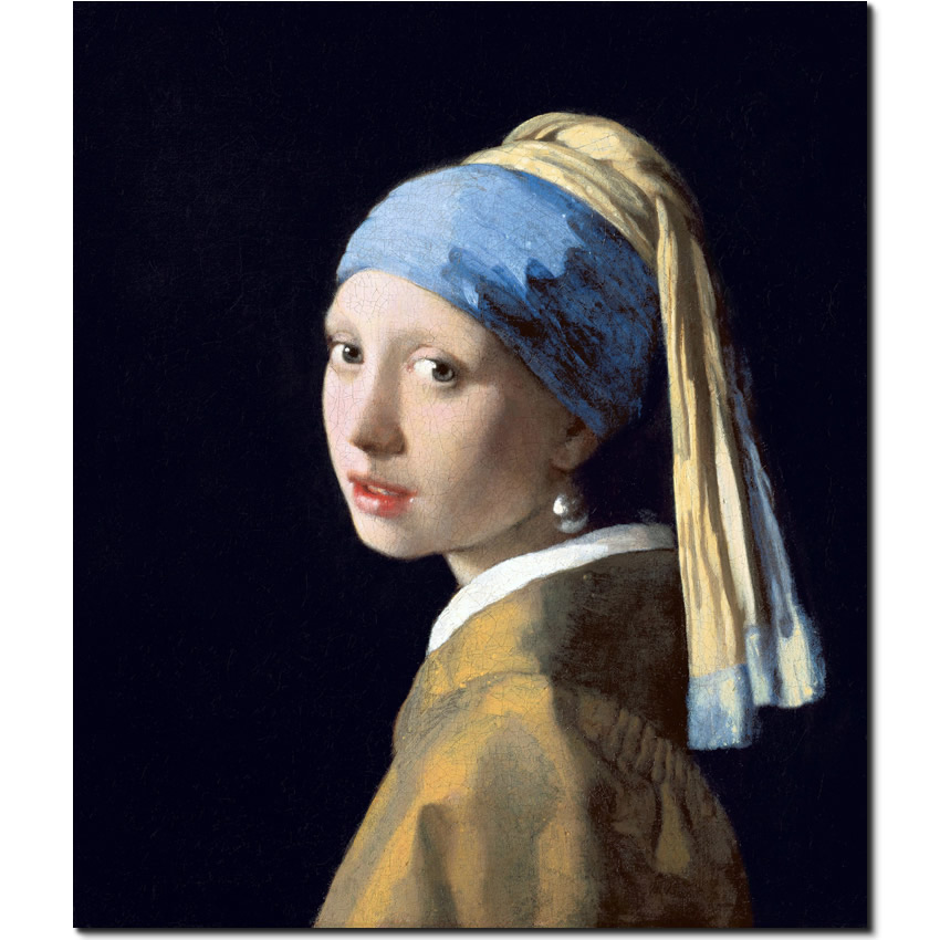 Girl with a pearl earning by Johannes Vermeer